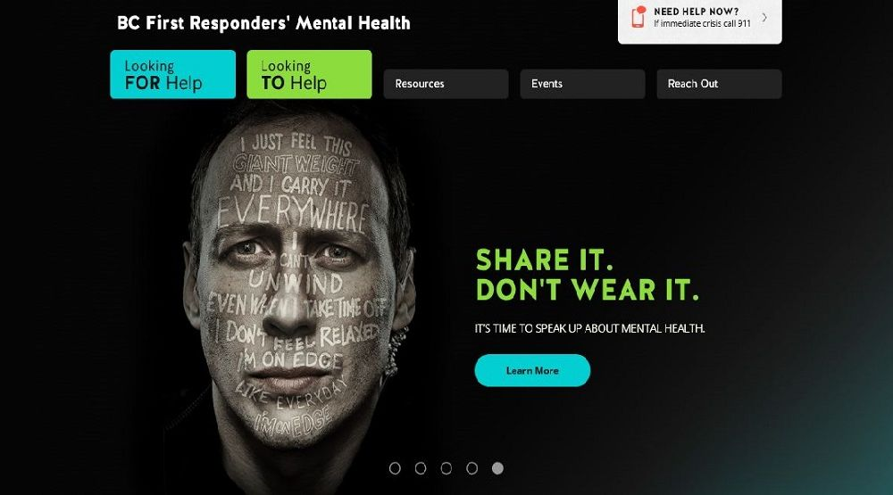 BC First Responders' Mental Health website