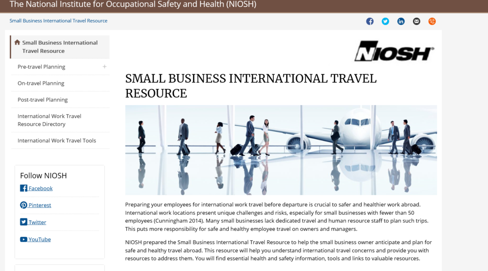 SMALL BUSINESS INTERNATIONAL TRAVEL RESOURCE: TRAVEL PLANNER